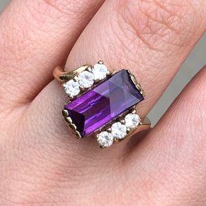 Jewelry - 10K yellow gold amethyst ring inspiration 3.5 gram